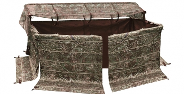 Buy or Bust – Drake Waterfowl Ghillie 4-Man Blind With No Shadow Dual Action Top