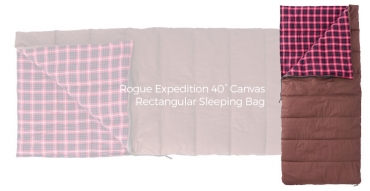 Buy or Bust – Rogue Expedition 40° Canvas Rectangular Sleeping Bag